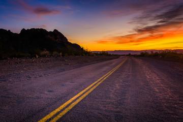 Foto op Plexiglas Route 66 Historic Route 66 at sunset, in Oatman, Arizona.