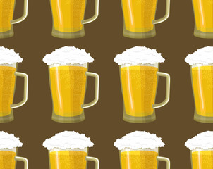 pattern beer background seamless