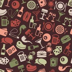 pub seamless pattern