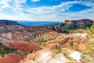 Beautiful Landscapes of Sandstone Cliffs and Pinnacles of Bryce