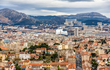 View of Marseille from Notre-Dame de la Garde - France