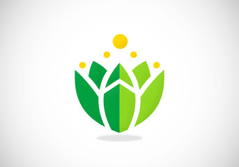 lotus flower extract nutrition vector logo