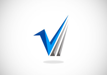 mark check business abstract vector logo