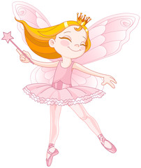 Cute fairy ballerina