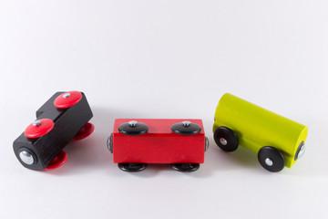 Cadres-photo bureau Voitures enfants Wooden Toy Train Set.