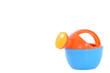 Colorful plastic watering pot for kid learning, included clippin