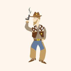 cowboy theme elements vector,eps