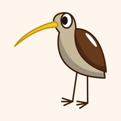 bird cartoon theme elements