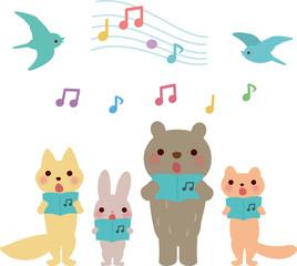 歌う動物たち