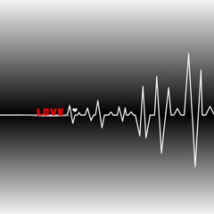 Cardiogram heart and start a new life.