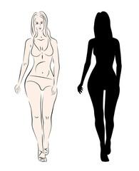 silhouette model girl