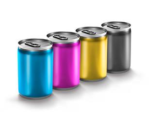 colourful aluminum can