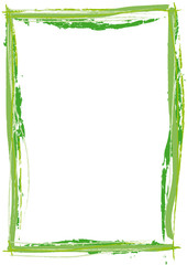 grüner Rahmen Pinsel Strich
