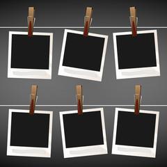 Photo vintage empty vector set