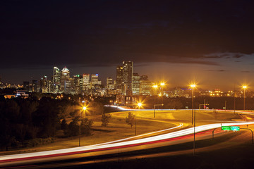Distant panorama of Calgary
