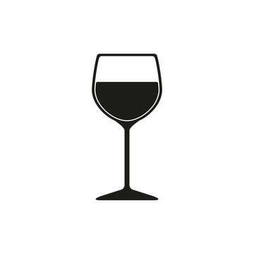The wineglass icon. Goblet symbol. Flat