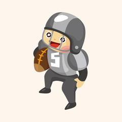 football player theme elements