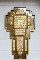 Gold Inlaid Cross