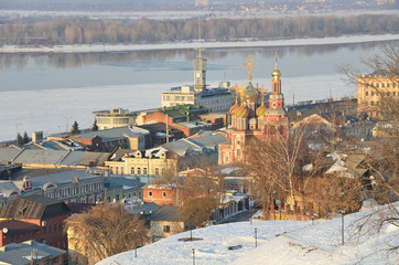 Виды вечернего Нижнего Новгорода