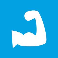 Strength white icon