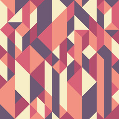 Abstract seamless pattern with rhombuses and cubes.