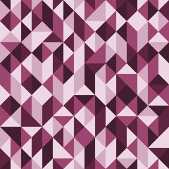 Abstract seamless pattern with squares and triangles.