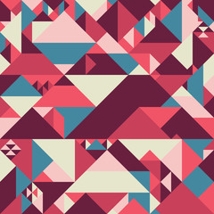 Abstract seamless pattern with colorful pyramids.