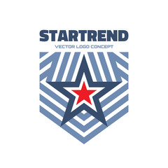 Startrend - vector logo. Star and stripes logo.