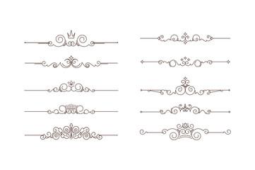 Set of ten decorative text dividers