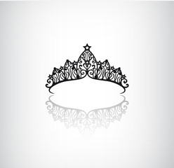vector vintage elegant decorated with star crown icon