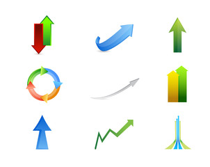 arrows icon set illustration design