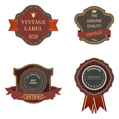 Set of vintage luxury retro labels templates.