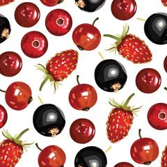 Berries mix pattern seamless