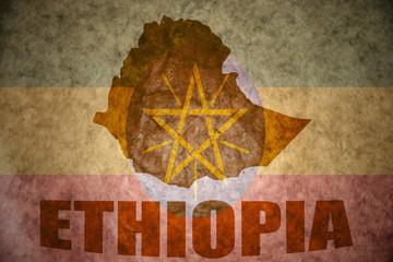 ethiopia vintage map