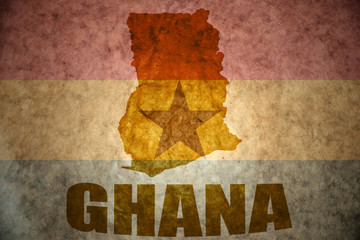 ghana vintage map