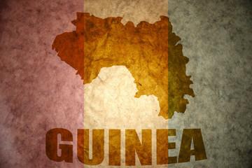 guinea vintage map