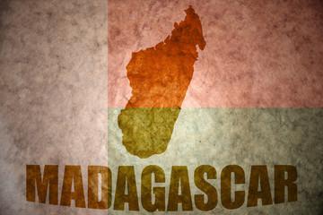 madagascar vintage map
