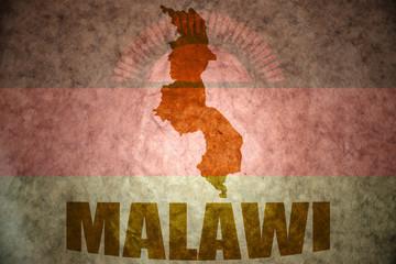 malawi vintage map