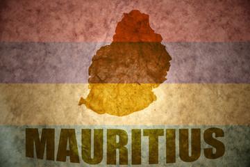 mauritius vintage map