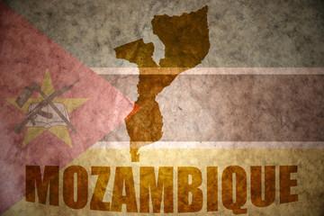 mozambique vintage map