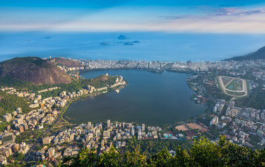 Lagoa Rodrigo de Freitas, Ipanema, Leblon in Rio de Janeiro