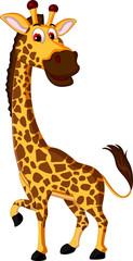 giraffe cartoon posing