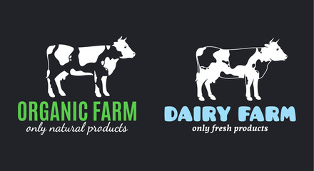 Cow Logo Templates for Diary and Meat Products