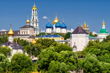 The great Trinity monastery in Sergiyev Posad near Moscow