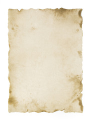 old blank parchment