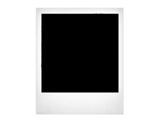 Polaroid isolated on white