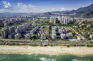 Rio de Janeiro, Barra da Tijuca beachfront architecture , Brazil