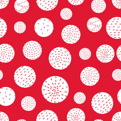 Cute seamless pattern with polka dot.