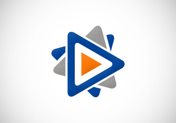 play video symbol vector logo
