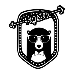 Hipster animal design, vector illustration.